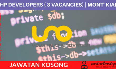 PHP DEVELOPER (3 VACANCIES) | Mont' Kiara