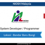 System Developer/Programmer NIOSH Bangi | Dec 2019
